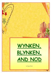 English Worksheets: WYNKEN, BLYNKEN AND NOD by Eugene Field - poetry corner