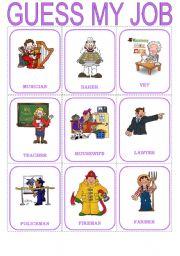English Worksheet: Guess the job - speaking cards (3/3)