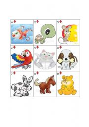 English Worksheet: Pets - Go Fish! Part 1