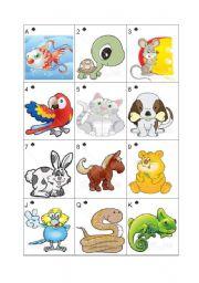 English Worksheets: Pets - Go Fish! Part 2