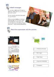 English Worksheet: R U online? - part 1