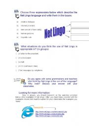 English Worksheets: R U online - part 3/3