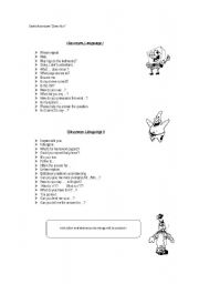 English Worksheets: IN CLASS