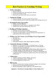 English Worksheets: Best ways of Writing