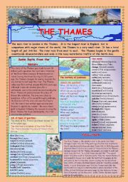 English Worksheets: THE THAMES (2 PAGES)