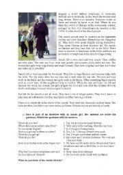 English Worksheet: Amish People