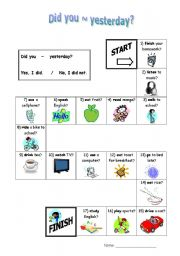 English Worksheets: Did you Race