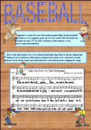 English Worksheet: Baseball Warm Up Worksheet: Basic Grammar part 3 of 3