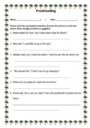 Printables Proofreading Worksheets english teaching worksheets proofreading worksheet