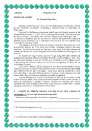 English Worksheets: An erasmus experience