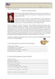 English Worksheets: School : reading comprehension + grammar exercises (editable)