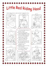 photo relating to Little Red Riding Hood Story Printable known as REVISING Components OF THE Human body: Very little Pink Driving HOOD - ESL