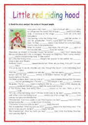 photograph relating to Little Red Riding Hood Story Printable titled REVISING Final Straightforward: Tiny Pink Driving HOOD - ESL worksheet