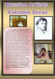 English Worksheets: Russisn Artists-Valentin Serov