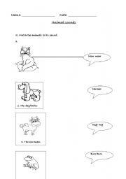 english worksheets animal sounds worksheet grade 1. Black Bedroom Furniture Sets. Home Design Ideas