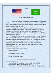 English Worksheets: A Memorable Day