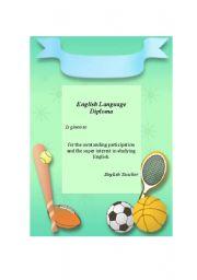 English Worksheet: English Language Diploma