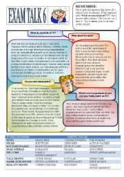 English Worksheets: Speaking Preparation 6 Media.