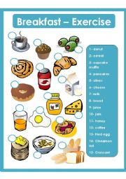 English Worksheet: Breakfast - Exercise