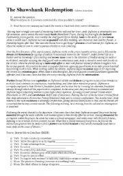 Activity about the movie the Shawshank Redemption - ESL ...