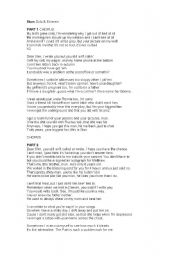 English Worksheets: Eminem and Dido song STAM