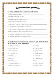 Printables Spanish Greetings Worksheet printables spanish greetings and goodbyes worksheets english teaching greetings