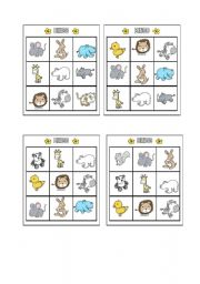 English Worksheet: Bingo - Animals Page 7
