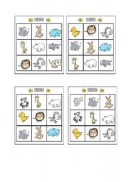 English Worksheets: Bingo - Animals Page 7