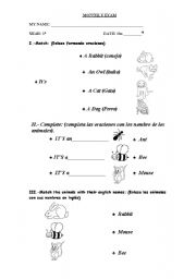 English Worksheets: Use of  it using the animals