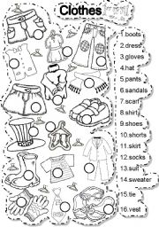 English Worksheets: CLOTHES MATCH