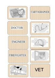 English Worksheets: Occupation Memory Game or flashcards part 3