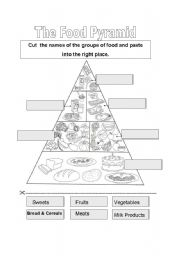 Worksheet Food Guide Pyramid Worksheets english teaching worksheets food pyramid pyramid