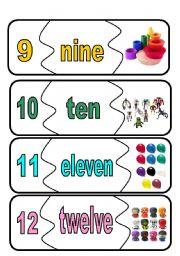 English Worksheet: number flashcards