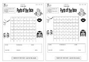 English Worksheets: Puzzle Parts of the face