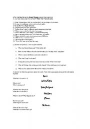 English Worksheets: Almost Famous Movie Activity