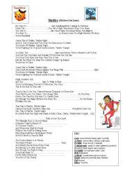 English Worksheets: Thriller - Michael Jackson