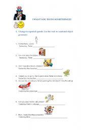 English Worksheets: I WANT YOU TO DO SOMETHING!