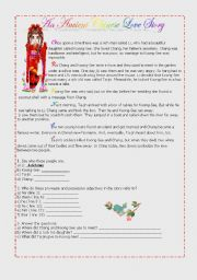 English Worksheets: English Comprehension Text