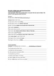 English Worksheets: Creating questions