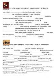english worksheets simple past worksheets page 248. Black Bedroom Furniture Sets. Home Design Ideas