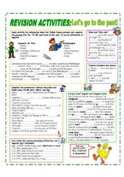 English Worksheet: END OF THE SCHOOL YEAR - REVISION ACTIVITIES HANDOUT
