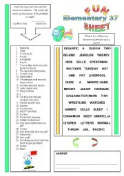English Worksheets: Fun Sheet Elementary 37