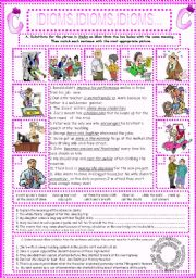 English Worksheets: IDIOMS,IDIOMS,IDIOMS...(3)