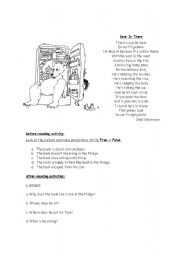 English Worksheet: Poem: Bear in there