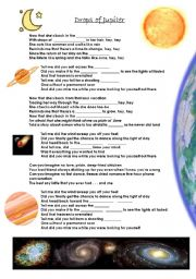 English Worksheet: Drops of Jupiter - Song by Train