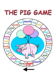 English Worksheet: the pig game
