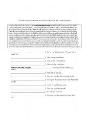 English Worksheet: At an amusement park