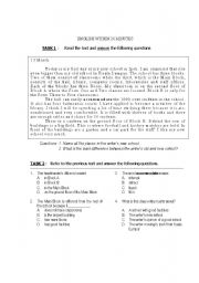 English Worksheets: English Within 20 Minutes