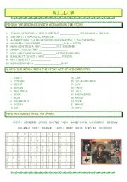 English Worksheets: willow - the movie