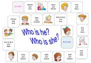 English Worksheet: family relationships (3/3) - boardgame